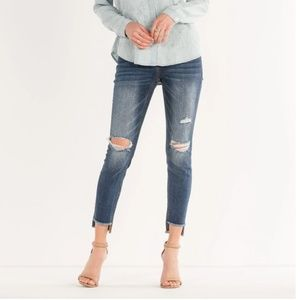 Miss Me Hole New You Mid Rise Ankle Skinny Jean